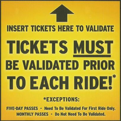 Validating tickets